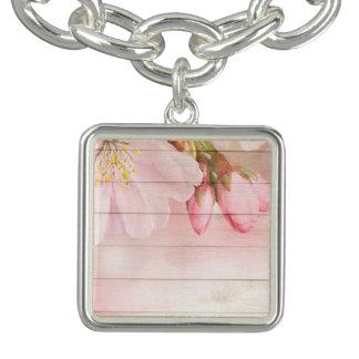 Braceletes Com Pingentes Flor de cerejeira