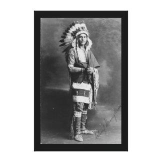 Braço forte de chefe indiano do nativo americano c impressão em tela