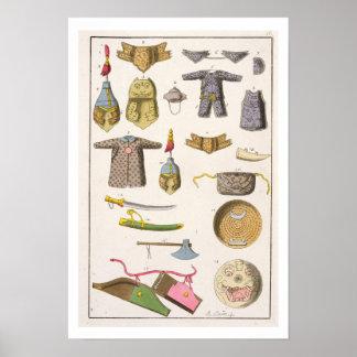 Braços militares e roupa chineses, ilustração fran poster