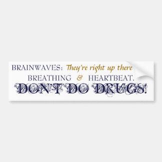 Brainwaves - autocolante no vidro traseiro - azuis adesivo