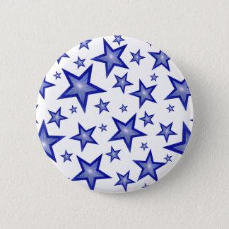 Branco azul escuro do botão das estrelas bóton redondo 5.08cm