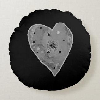 Branco cinzento preto redondo do travesseiro almofada redonda