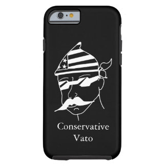 Branco conservador de Vato na capa de telefone