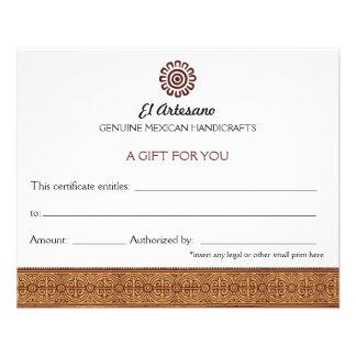 Branco cor-de-rosa do certificado de presente do flyer 11.43 x 14.22cm