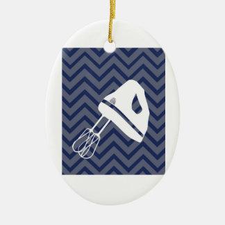 Branco-Cozinha - misturador da mão na viga Ornamento De Cerâmica Oval
