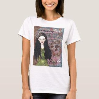 Branco da neve na floresta t-shirt