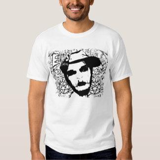 branco de Gansta do vivo da roupa do St. do olmo Camiseta