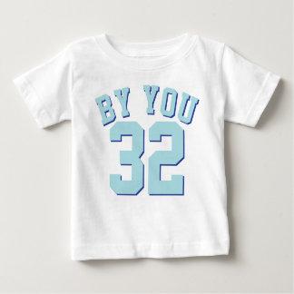 Branco & design do jérsei dos esportes do bebê | tshirt