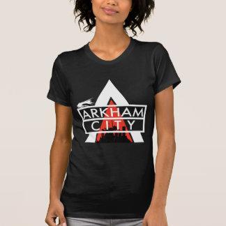 Branco do logotipo da cidade de Arkham Camisetas