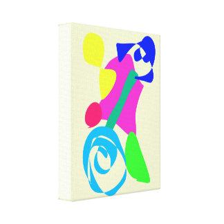 Branco do marfim do Unicycle Impressão Em Tela Canvas