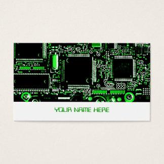 Branco do modelo de cartão de negócios do verde 2