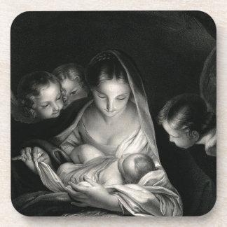 Branco do preto dos anjos da Virgem Maria de Jesus Porta-copo
