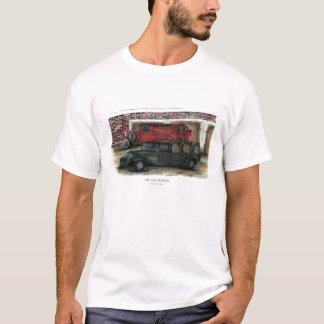 Branco dos homens do t-shirt - a cervejaria velha