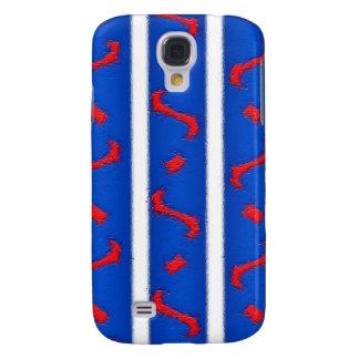 Branco e azul vermelhos galaxy s4 covers