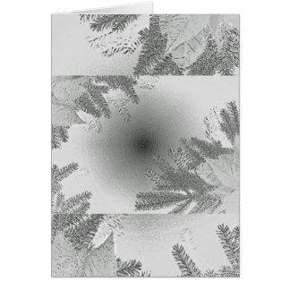 Branco e cinza da poinsétia do Natal Cartão