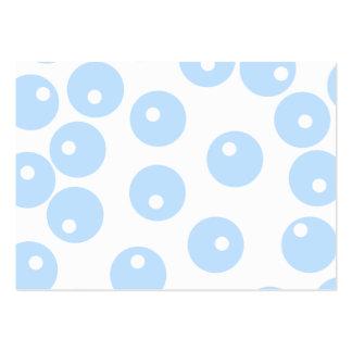 Branco e claro - teste padrão retro azul cartão de visita grande