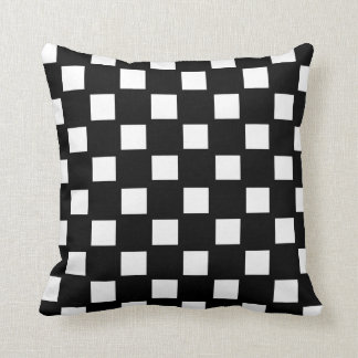 Branco e preto verificados travesseiros de decoração