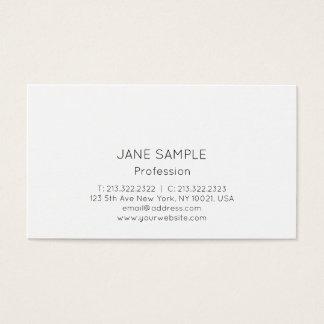 Branco elegante moderno profissional simples do cartão de visitas