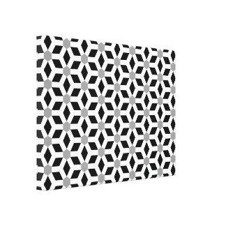 Branco em canvas telhadas pretas do Hex Impressão Em Tela