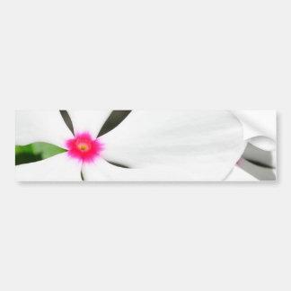 Branco havaiano da flor com vermelho adesivo