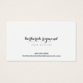 branco mínimo do cabeleireiro (profissão feita sob cartão de visitas