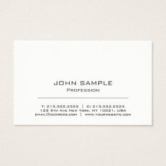 Branco moderno profissional e cinzento cartão de visitas