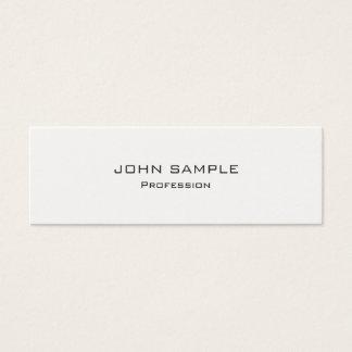 Branco moderno profissional e cinzento cartão de visitas mini