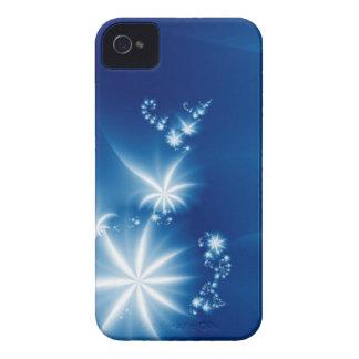 Branco no azul capas iPhone 4 Case-Mate