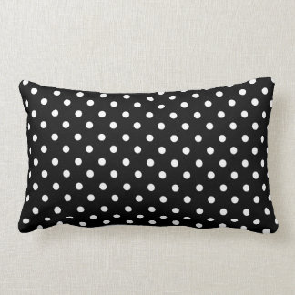 Branco no design preto do ponto travesseiro