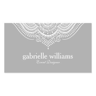 Branco ornamentado & claro elegantes - design cartão de visita