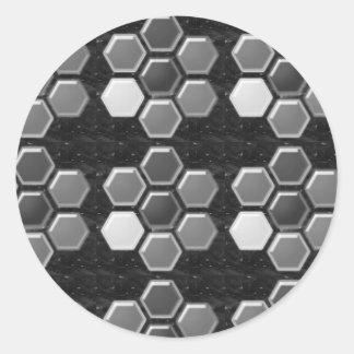 Branco preto de n: Botões elegantes Adesivo