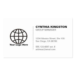 Branco preto simplesmente profissional sua empresa cartão de visita