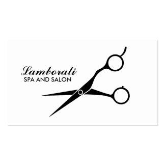 Branco profissional do cabeleireiro do cabeleireir cartão de visita