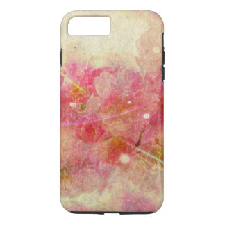 branco romance do abstrato-fora do vintage da flor capa iPhone 8 plus/7 plus