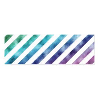 Branco roxo azul verde Pastel do arco-íris do Cartão De Visita Skinny