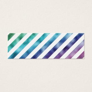 Branco roxo azul verde Pastel do arco-íris do Cartão De Visitas Mini