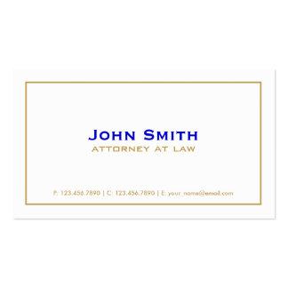 Branco simples do advogado liso elegante cartão de visita
