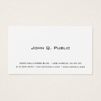 Branco simples profissional cartão de visitas