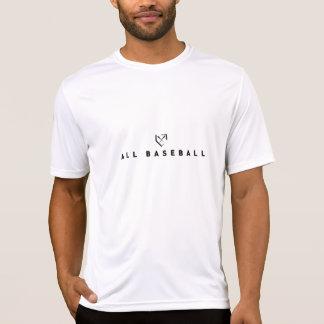 Branco todo o T do logotipo do basebol T-shirts