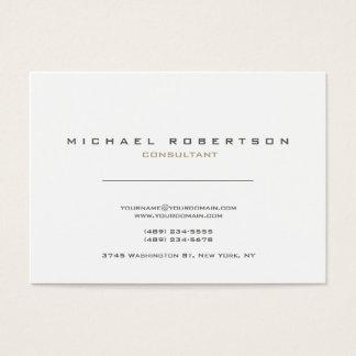 Brancos modernos exclusivos limpam cartão de visitas