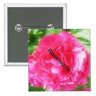 Brasão Button de cores individualmente floral nome Boton