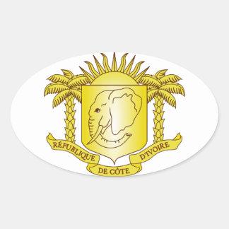 Brasão da Costa do Marfim Adesivos Em Formato Ovais