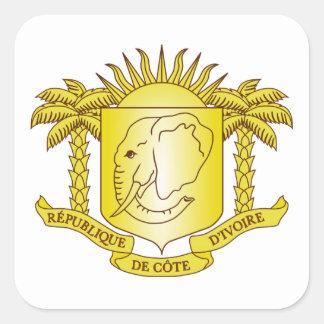 Brasão da Costa do Marfim Adesivo Em Forma Quadrada