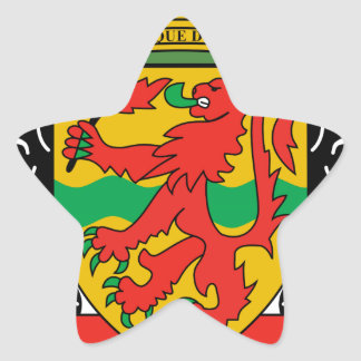 Brasão da República Democrática do Congo Adesivos Em Forma De Estrelas