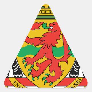 Brasão da República Democrática do Congo Adesivos Em Forma De Triângulo