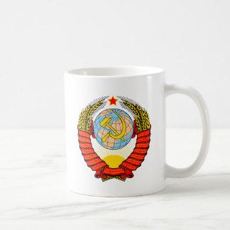 Brasão da reunião soviética caneca de café