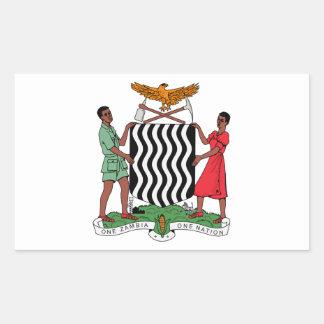 Brasão da Zâmbia Adesivos Retangular