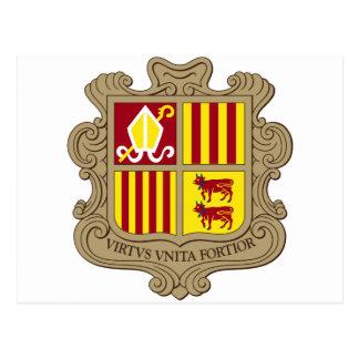 Brasão de Andorra Cartao Postal