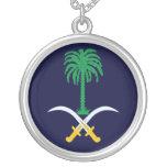 Brasão de Arábia Saudita Colar Personalizado