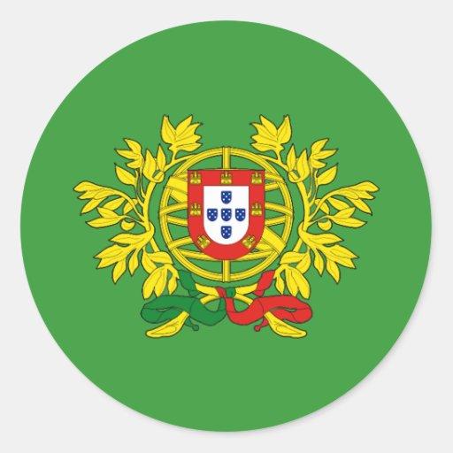 Brasão de armas de Portugal Adesivos Em Formato Redondos